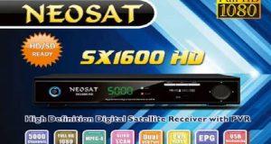 NEOSAT SX1600HD مع احدث ملف قنوات للجهاز بتاريخ شهر 12-2016