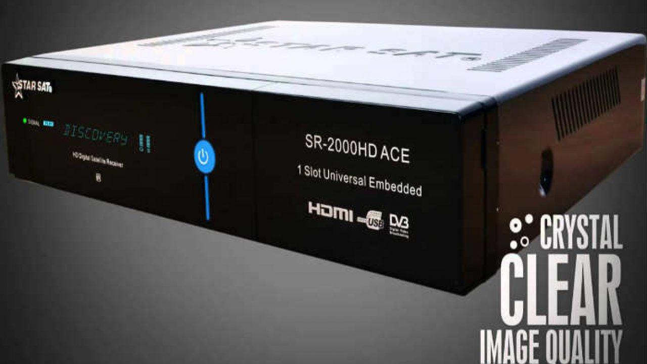 جهاز StarSat SR-2000 HD ACE مع اخر تحديثات الاصدار 1 75-1 74