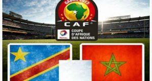 مباراة المغرب و الكونغو الديموقراطية كأس الأمم الافريقية 2017 مع القنوات الناقلة