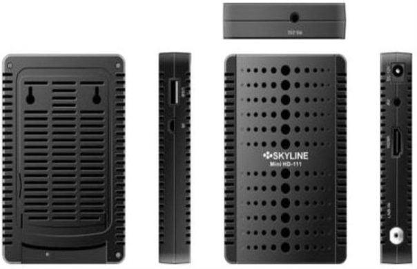 جهاز SkyLine HD-111 مع احدث سوفت وير وملف قنوات مدمج 2017