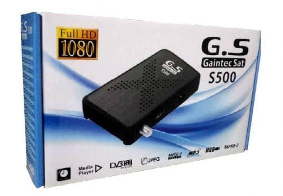 Gaintec sat s500 سعر ومواصفات رسيفر جينتك سات بتقنية H.265