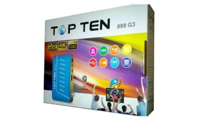 Top Ten 888 G3 سعر ومواصفات رسيفر توب تن فل اتش دي