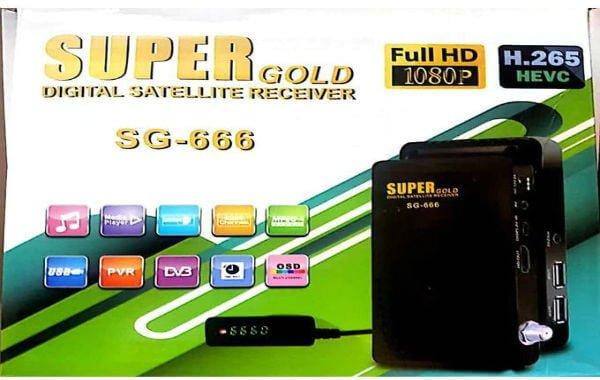 سعر ومواصفات Super Gold SG-666 رسيفر سوبر جولد 666 بخاصية H265